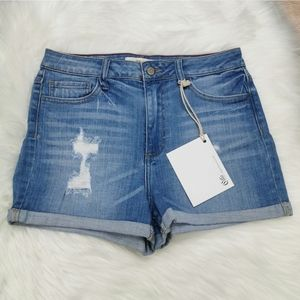 Cello High Waist Distressed Shorts Size Large